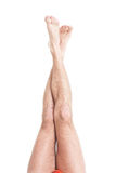 Slim male legs royalty free stock image