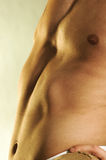 Slim male torso Royalty Free Stock Photo