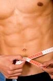 Slim man - lose weight series Royalty Free Stock Image