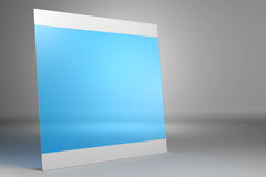 Slim mobile tablet on gray background Royalty Free Stock Image