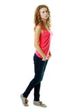 Slim model in jeans Royalty Free Stock Images
