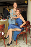 Slim mom and daughter. Together Royalty Free Stock Images