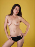 Slim nude female Royalty Free Stock Photography