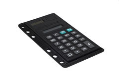 Slim office calculator Royalty Free Stock Images
