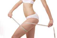 Slim perfect woman body royalty free stock images