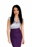 Slim pretty business woman. Royalty Free Stock Images