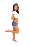 Slim pretty girl. royalty free stock images