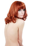Slim redhead Stock Photo