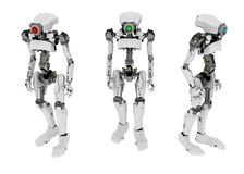 Slim Robot, 3 Royalty Free Stock Images
