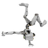 Slim Robot, Acrobatic. Slim 3d robotic figure, isolated Stock Images