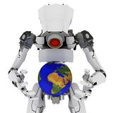 Slim Robot, Globe Stock Images