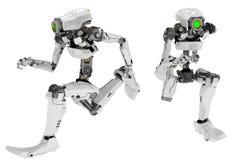 Slim Robot, Sprint Royalty Free Stock Photos