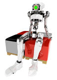 Slim Robot, Square Seats Royalty Free Stock Images