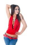 Slim sensual girl Stock Photography
