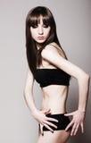 Slim brunette Royalty Free Stock Photo
