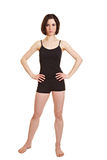 Slim sportive woman with arms Stock Images
