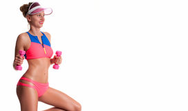 Slim and sporty female body, diet concept royalty free stock photo