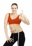 Slim sporty woman Royalty Free Stock Photography