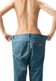 Slim waist. Girl's torso Royalty Free Stock Photos