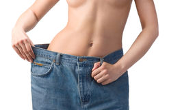 Slim waist. Girl's torso Stock Photos
