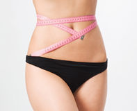 Slim waist. Girl's torso Stock Image