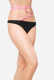 Slim waist. Girl's torso Stock Photography