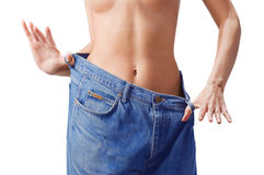 Slim waist. Girl's torso Royalty Free Stock Photography