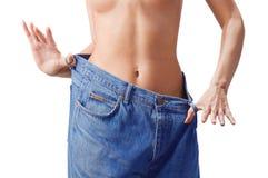 Slim waist. Girl's torso royalty free stock photography