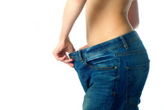 Slim waist, loosing weight royalty free stock images