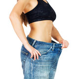 Slim Waist Slimming Body Successful Diet Royalty Free Stock Images