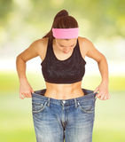 Slim Waist Slimming Body Successful Diet royalty free stock photo