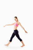 Slim waist of young sporty woman, detail of perfect fit female Royalty Free Stock Photo