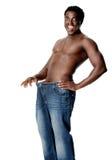 Slim weighloss man Stock Photo