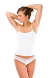 Slim woman Stock Image