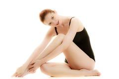 Slim woman body wearing underwear royalty free stock photos