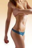 Slim woman body on white background Royalty Free Stock Photos