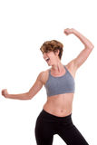 Slim woman doing exercise or dance class Royalty Free Stock Photo