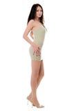 Slim woman in dress Royalty Free Stock Photos
