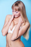Slim woman isolated Stock Photo