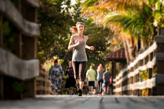 Slim woman running Royalty Free Stock Photography