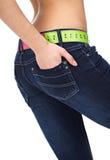 Slim woman's abdomen Stock Photo