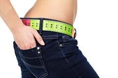 Slim woman's abdomen Royalty Free Stock Photos