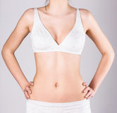 Slim woman's body Royalty Free Stock Images