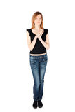 Slim Woman Standing Stock Photography