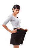 Slim woman with successful weight loss Royalty Free Stock Photos