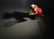 Slim woman tennis player Stock Image