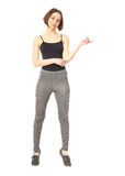 Slim woman wearing the sport clothes for fitness isolated Royalty Free Stock Photo