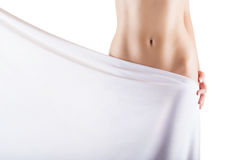 Slim womans body Royalty Free Stock Image