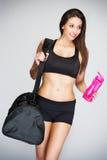 Slim Women Going Training Stock Images