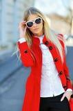 Slim young beautiful woman wearing sunglasses Stock Image